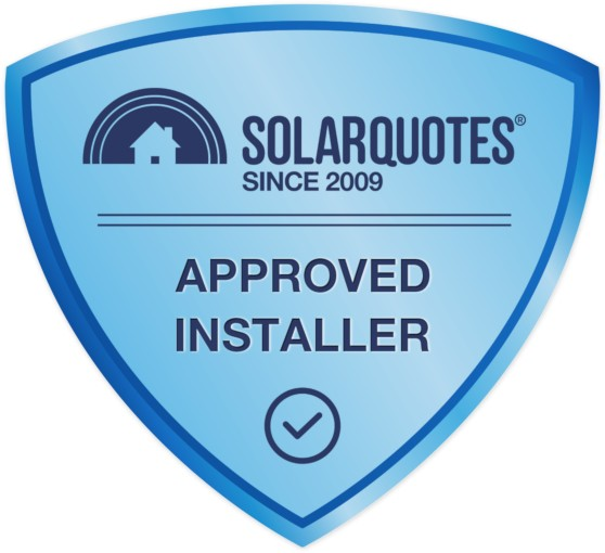 Solar Quotes Approved Installer blue shield badge